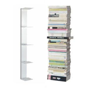 Bücherregal - booksbaum einseitig in weiß ♥ 2tlg. Bestehend aus Halterung  + Einlegeböden  ♥ Wandregal