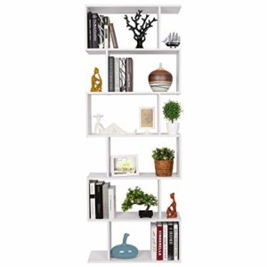 Homfa Bücherregal Regal mit 6 Ebenen auch als Raumteiler  ♥ Bücherregal
