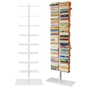 Bücherregal - booksbaum doppelseitig in weiß ♥ 3tlg. Bestehend aus Halterung + Fuß + Einlegeböden  ♥ Bücherregal 40 cm breit♥ Bücherregal Weiß 40 cm breit