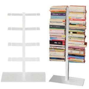 Radius Design booksbaum doppelseitig weiß ♥ 3tlg.  Halterung + Fuß + Einlegeböden ♥ Standregal