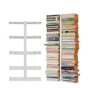 Radius Design booksbaum Doppelseitig für die Wand  weiß, 2tlg. Bestehend aus   Halterung + Einlegeböden ♥ Wandregal
