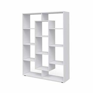 Vicco Raumteiler 11 Fächer Standregal  (Weiß) ♥ Raumteiler Regal ♥ Raumteiler weiss