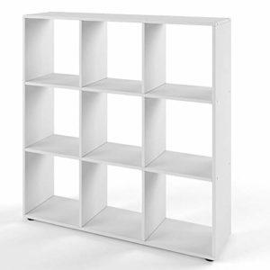 Vicco Bücherregal Nove 9 Fächer Raumteiler Standregal  (Weiß) ♥ Bücherregal Wohnzimmer ♥ Bücherregale Holz
