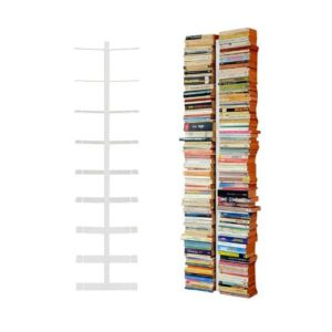 Radius Design booksbaum doppelseitig  weiß ♥ 2tlg.  Halterung + Einlegeböden ♥ Standregal
