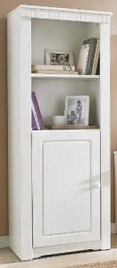 Regal mit Tür aus Kiefernholz, 2 offene Fächer ♥ Schrank 60 cm Breit 30 cm Tief