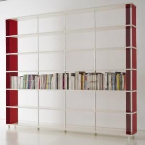 Weißes Bücherregal, italienisches Design ♥ Regal Weiß 30 cm Tief