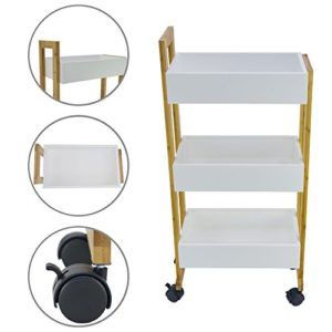 Praktisches schmales Regal mit Rollen - Nischenwagen für Küche und Bad
