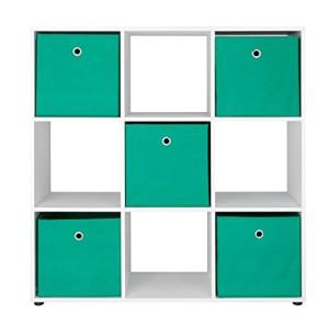 Raumteiler, 9 Fächer ♥ Regal Weiß 30 cm Tief
