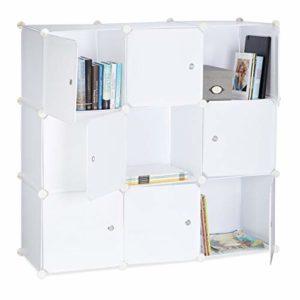Relaxdays Regalsystem mit Türen ♥ Raumteiler Kunststoff ♥  Standregal 9 Fächer♥ weiß ♥ Raumteiler ♥ Raumteiler Regalsystem